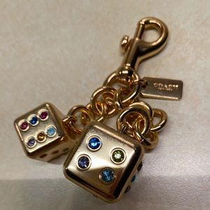 Coach Dice Keychain gold